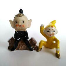 Vintage Miniature Elf Pixie lot of Two One Repair