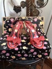 Claudia orange snake effect sandals UK 3