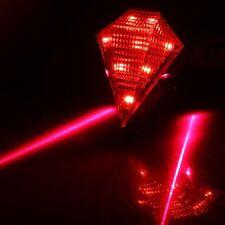 2 Laser Beam + 8 LED Waterproof Cycling Bike MTB Rear Tail Safety Flashing Light
