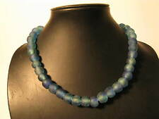 Pulverglasperlen 13mm Blau Melange P1 Recycling Powder Glass Beads Afrozip