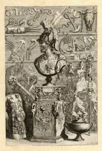 Antique Print-GRECO ROMAN-SCULPTURE-Sandrart-1675