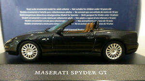 1/43 IXO Maserati Cambiocorsa Spyder GT in Metallic Black. Mint & Boxed. MOC036