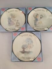 Precious Moments Blessed Are The Merciful Set of 3 Vtg 1984 Collectible 7""