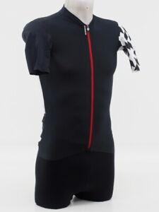 New! Assos Men's SS Equipe RS Aero Short Sleeve Cycling Jersey Medium Blk/Red