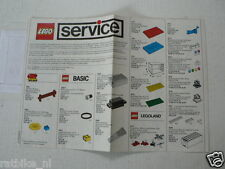 LEGO BROCHURE FLYER CATALOG TOYS 1990  PARTS SERVICE  DUTCH 6 PAGES 152