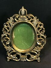 Antique Vintage Ornate Brass Small Miniature Picture Frame