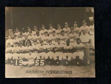 "1955 BROOKLYN DODGERS 14"" X 11"" TEAM POSTER - MINT - WS CHAMPS - JACKIE ROBINSON"