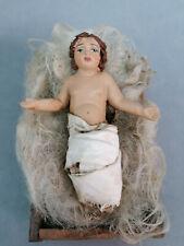 Bambin Gesù bambinello pastore in terracotta artigianato artistico