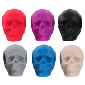 6 Pcs Red Wine Glass Markers Skull Shape Cup Signs for Buffet