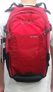 EVOC FR TRACK 10L BACKPACK w/ BACK PROTECTOR RUBY/RED XS (hydration pack)