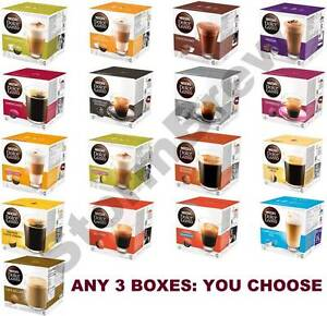 NESCAFE DOLCE GUSTO COFFEE PODS: 3 BOXES of 16 CAPSULES (YOU CHOOSE BLEND)
