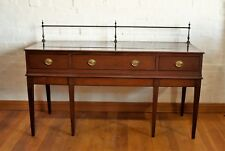 Antique inlaid converted piano large long mahogany console / sideboard