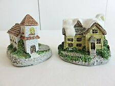 Small Collectible Ceramic Village Christmas House and Church