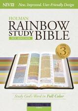 NIV Rainbow Study Bible, Purple LeatherTouch Indexed (2015, Imitation Leather)