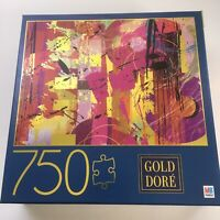 MB Gold Dore 750 Piece Puzzle Pink Abstract New 2019 Pink Retro 6054551