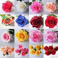 Artificial Rose Bouquet flower Silk Fake Flowers Leaf Wedding Party Home Decor