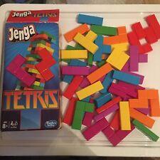 Jenga TETRIS Hasbro Game Skill Strategy Fun Family - NO INSTRUCTIONS