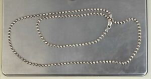 "CrazieM Sterling 925 Silver Vintage Southwest Estate Necklace 20-24"" 16.7g x35"