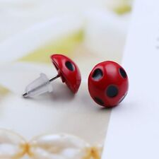 Miraculous Ladybug Cat Noir Cosplay Costume Ear Stud Red Ladybird Earrings New