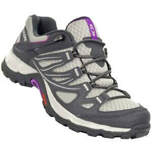 Salomon Damen Wanderschuhe Outdoor Schuhe Laufschuh Trekking beige grau lila 38