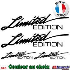 4 Stickers Autocollants Limited Edition 20cm - Couleur au choix - 046