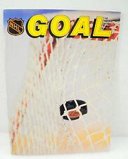 Vintage Goal Hockey Magazine w/ Stats