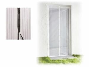 Mosquito Door Screen Natural Anti Insect Protection Magnetic 100 x 220cm Black