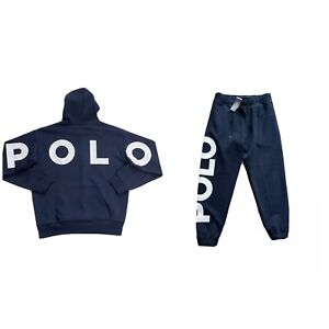 Polo Ralph Lauren Spell Out Double Knit Tracksuit Navy New W/Tags Men's L
