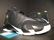1999 OG NIKE AIR JORDAN XIV 14 BLACK WHITE INDIGLO GREEN 136017-002 NEW 9