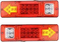 19 LED Red Amber White Trailer Tail Light Bar 12V Turn Signal Running Trailer RV