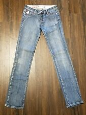 Women's/Junior's Pepe 73 London Denim Jeans ~ Blue ~ Sz 25 ~ Straight ~ Low Rise