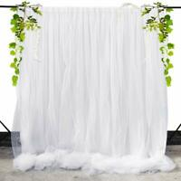 Sheer Voile Chiffon Tulle Backdrop Curtain Panel Wedding Draping Photo Booth