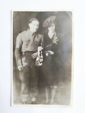 1940/ WWII B/W Wedding Photograph. Army Groom/ Registry Office/ Blitz Fashion