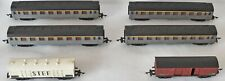 (1219) 6 PIECES JOUEF HO GAUGE ROLLOING STOCK 2 WAGONS & 4 COACHES. PRE-OWNED