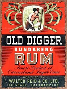 Old Digger Rum, Retro vintage style metal tin sign gift Home Decor Bar Pub