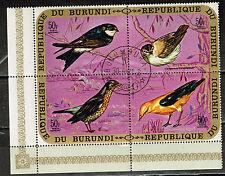 Burundi Fauna African Birds Souvenir Block stamps 1970