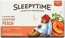 Sleepytime Peach Herbal Tea by Celestial Seasonings, 1 Box