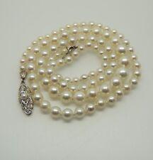 🌺🌺🌺 Perlenkette Verschluß aus 585er Weißgold mit einer Perle 🌺🌺🌺