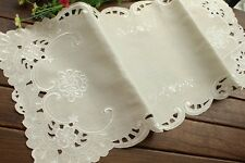 "13x29"" Simple Design Floral Embroidered Table Runner Banquet Wedding Decoration"