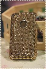 Cover custodia rigida iphone 3 e 3gs strass applicati a mano colore oro
