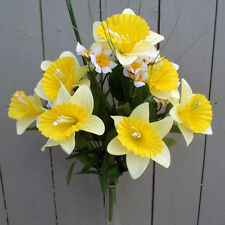 Artificial Mixed Daffodil Flower Bush