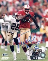 TERRELL OWENS SIGNED AUTOGRAPHED 8x10 PHOTO SAN FRANCISCO 49ERS RARE BECKETT BAS