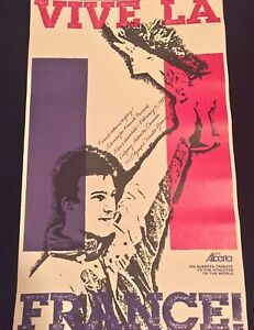 RARE! 1988 CALGARY OLYMPICS POSTER- PICCARD (France) WINS DOWNNHILL BRONZE