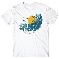 "T-SHIRT Uomo ""Surf City"" - maglietta 100% cotone - BIANCO"