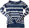 Wet Seal Women's Long Sleeve Pull Over Black & Grey Striped Sweater Size Small