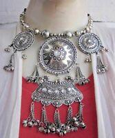 Ethnic Tribal Kuchi Vintage Banjara Boho Statement Necklace Earrings Bib Choker