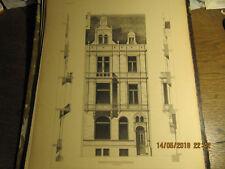 Planche Maison Boulevard de Waterloo à Bruxelles Pl. 14 1892