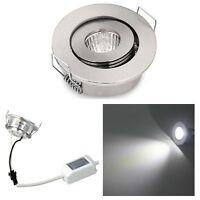 3W Small Led Downlights Recessed Mini Adjustable Small Recessed LED Spot Light