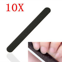 10 Black Nail Art Sanding Files For Acrylic UV Gel Polisher Manicure System Tool