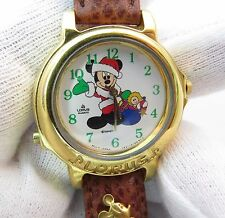CHRISTMAS MICKEY MOUSE,Disney Lorus,Musical,KIDS CHARACTER WATCH,1321.L@@K!